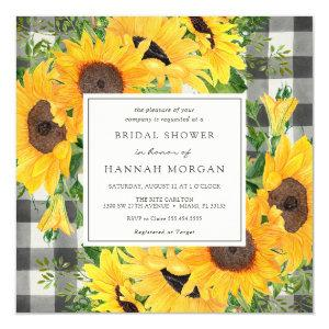 Sunflowers Bridal Shower Invitation starting at 2.35