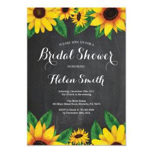 Sunflowers Bridal Shower Invitation Chalkboard starting at 2.35