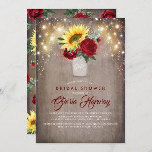 Sunflowers Burgundy Red Rustic Fall Bridal Shower starting at 2.51