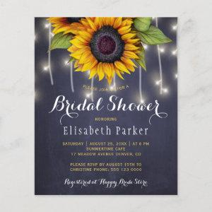 Sunflowers chic rustic string lights bridal shower starting at 0.61