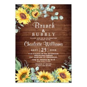 Sunflowers Eucalyptus Watercolor Brunch & Bubbly Invitation starting at 2.35