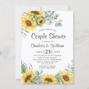 Sunflowers Eucalyptus Watercolor Couple Shower Invitation starting at 2.35