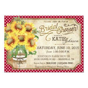 Sunflowers Gingham Country Picnic Bridal Shower Invitation starting at 2.82