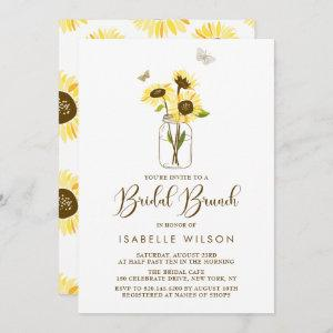 Sunflowers on Mason Jar Summer Bridal Brunch Invitation starting at 2.51