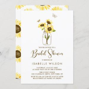 Sunflowers on Mason Jar Summer Bridal Shower Invitation starting at 2.40