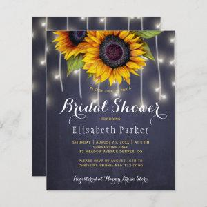 Sunflowers rustic budget bridal shower invitation starting at 0.61