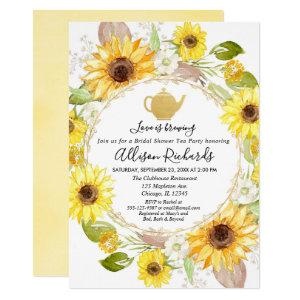 Sunflowers Tea party bridal shower invitation starting at 2.55