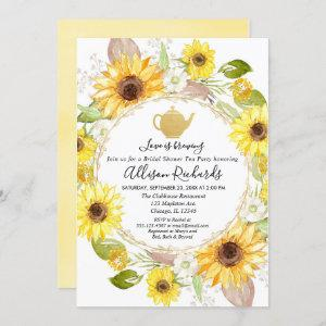 Sunflowers Tea party bridal shower starting at 2.55