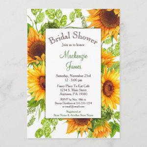Sunflowers Yellow Floral Bridal Shower Invitation starting at 2.66