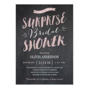 Surprise Bridal Shower Invitations - Chalked starting at 2.82