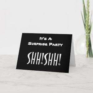 ***SURPRISE PARTY*** SHHHHH (SO CUTE) INVITATION starting at 3.95