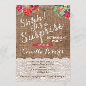 Surprise Retirement Party Invitation Cards starting at 2.66