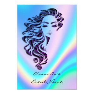 Sweet 16th Bridal Shower Holograph Ombre Blue Invitation starting at 1.95