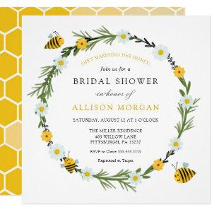 Sweet As Can Bee Bridal  Shower Invitation starting at 2.45