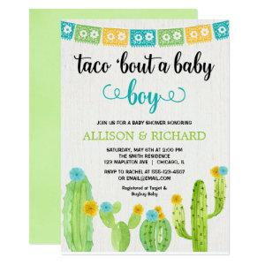 Taco baby shower, Mexican fiesta boy couples Invitation starting at 2.66