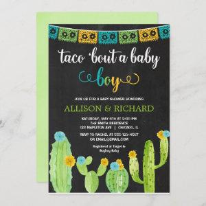 Taco bout a baby boy, Fiesta cactus baby shower Invitation starting at 2.66