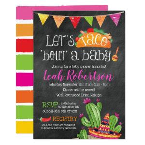 Taco bout a Baby - Chalkboard Baby Shower Invitation starting at 2.66