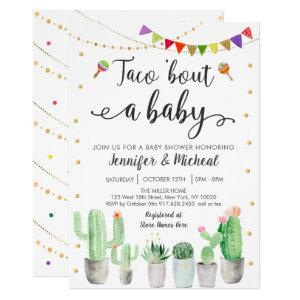Taco 'Bout A Baby Fiesta Cactus Baby Shower Invitation starting at 2.70