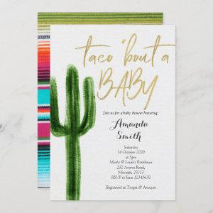 Taco bout baby Cactus Couples Shower Invitation starting at 2.55