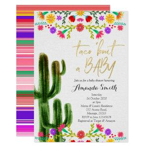 Taco bout baby Cactus Couples Shower Invite card starting at 2.55