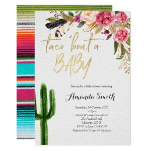 Taco bout baby Floral Couples Shower Invitation starting at 2.55