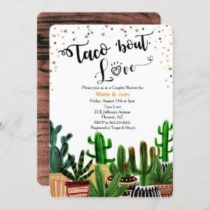 Taco 'bout Love Cactus Couples Shower Invitation starting at 2.70