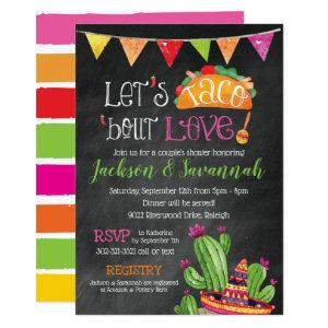 Taco bout Love - Chalkboard Bridal Invitation starting at 2.66