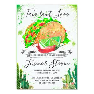 Taco bout love couples shower invitation cactus starting at 2.45