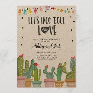 Taco Bout Love Fiesta Couples Shower Invite Cactus starting at 3.25