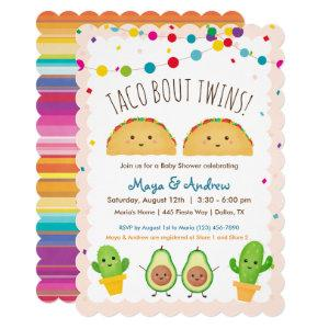 Taco bout Twins!  Fiesta theme Twin Baby Shower Invitation starting at 3.10