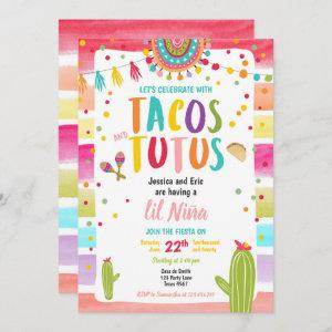 Tacos and Tutus Mexican Fiesta Couples Baby Shower Invitation starting at 2.66