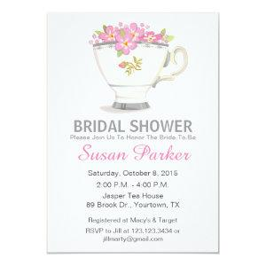 Tea Cup Bridal Shower Invitation starting at 2.56