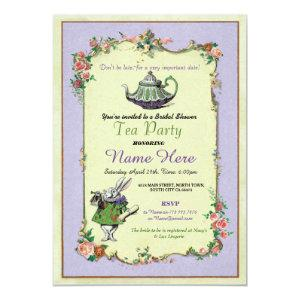 Tea Party Bridal Shower Alice in Wonderland Invite starting at 2.51