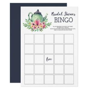 Tea Party Bridal Shower Bingo Game Invitation starting at 2.40