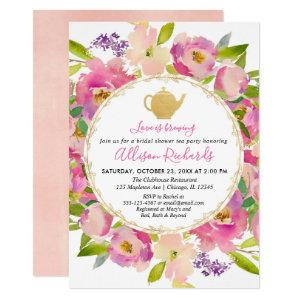 Tea party bridal shower Boho blush pink pastel Invitation starting at 2.55