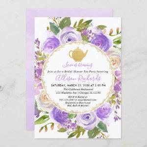 Tea party bridal shower purple lavender lilac starting at 2.55
