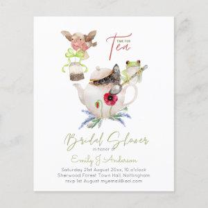 Tea Party Invitations for Bridal Shower Budget starting at 0.61