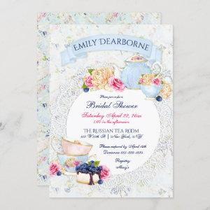 Tea Party Lace Doily Watercolor Invitation starting at 2.55