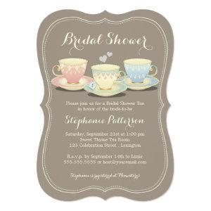 Teacup Trio Chic Bridal Shower Tea Party Invitation starting at 2.76
