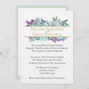 Teal Blue Bouquet Tradition Wedding Suite Ceremony starting at 3.25