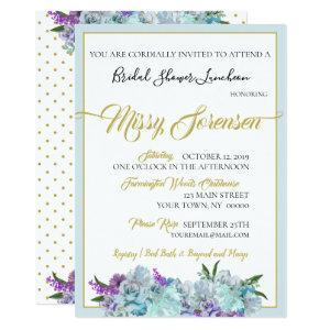 Teal Blue Bouquet Wedding Suite Shower Party Invitation starting at 2.79
