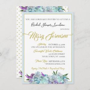 Teal Blue Bouquet Wedding Suite Shower Party starting at 2.79