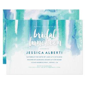 Teal Blue Watercolor Bridal Luncheon Invitation starting at 2.40