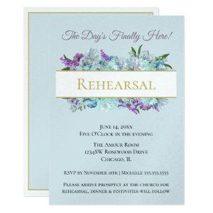 Teal Bouquet Rustic Wedding Suite Rehearsal Party Invitation starting at 3.90