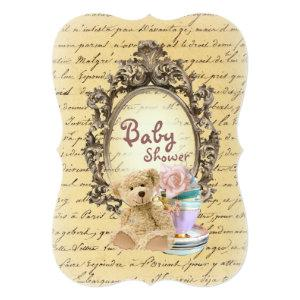 teddy bear french country baby shower invitations starting at 3.02