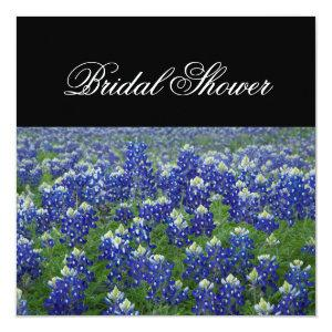 Texas Bluebonnets Floral Bridal Shower Invitation starting at 2.51