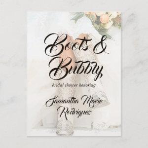 Texas Bride in Boots Bridal Shower Announcement Postcard starting at 2.00