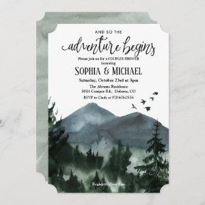 The Adventure Begins Couples Shower Invitation starting at 2.86