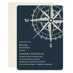 The Blue Compass   Wedding Bridal Shower Invitation starting at 2.71