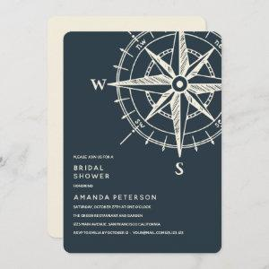 The Blue Compass | Wedding Bridal Shower Invitation starting at 2.71